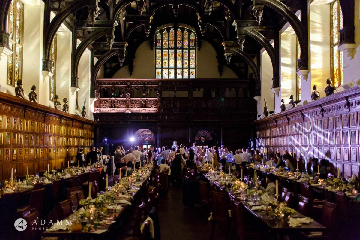 middle temple hall wedding photography view of the room