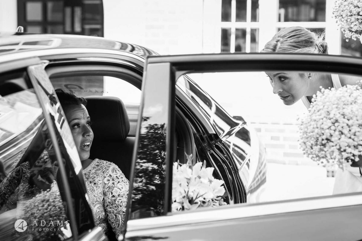middle temple hall wedding bride getting of the wedding car
