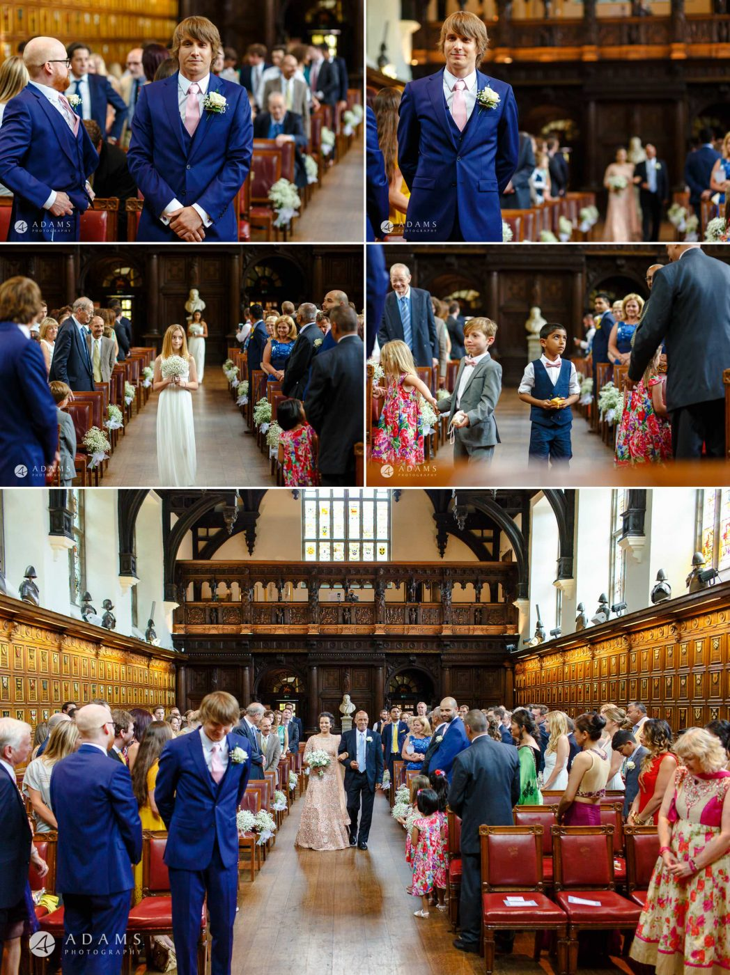 middle temple hall wedding ceremony starts in the hall
