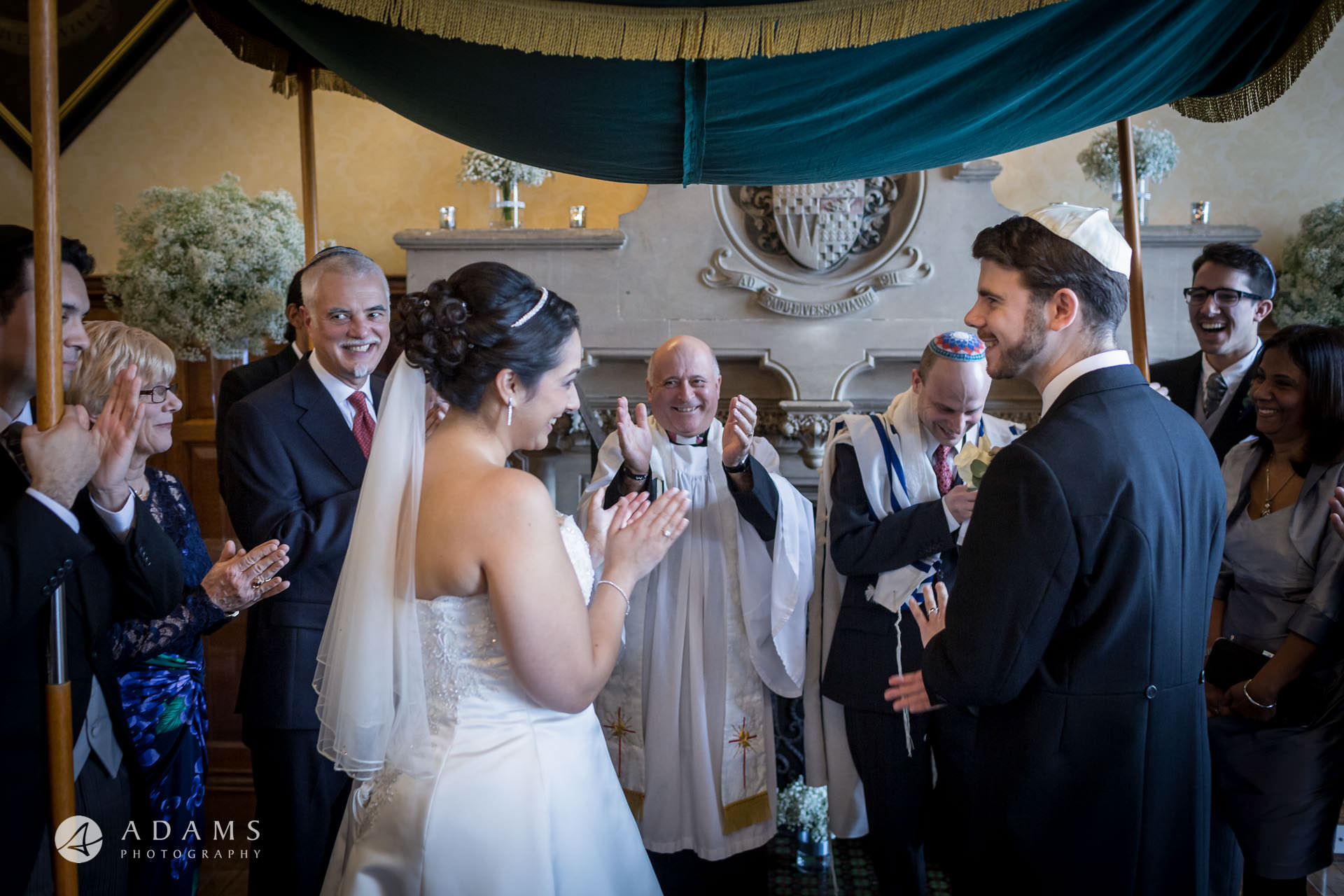 London wedding photographer interfaith wedding ceremony of Christian and Jew by wedding photographer London