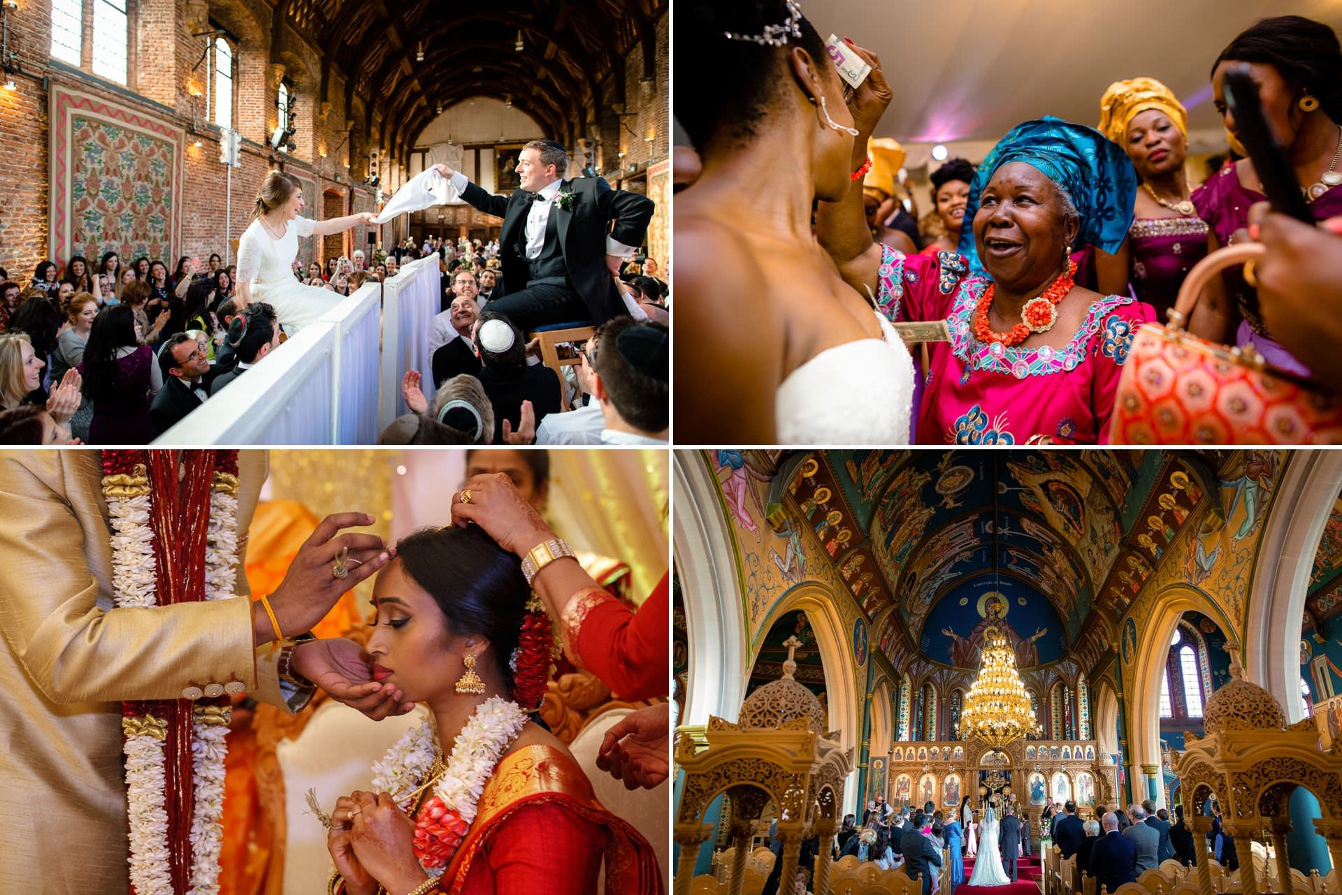 different types of wedding photography in London