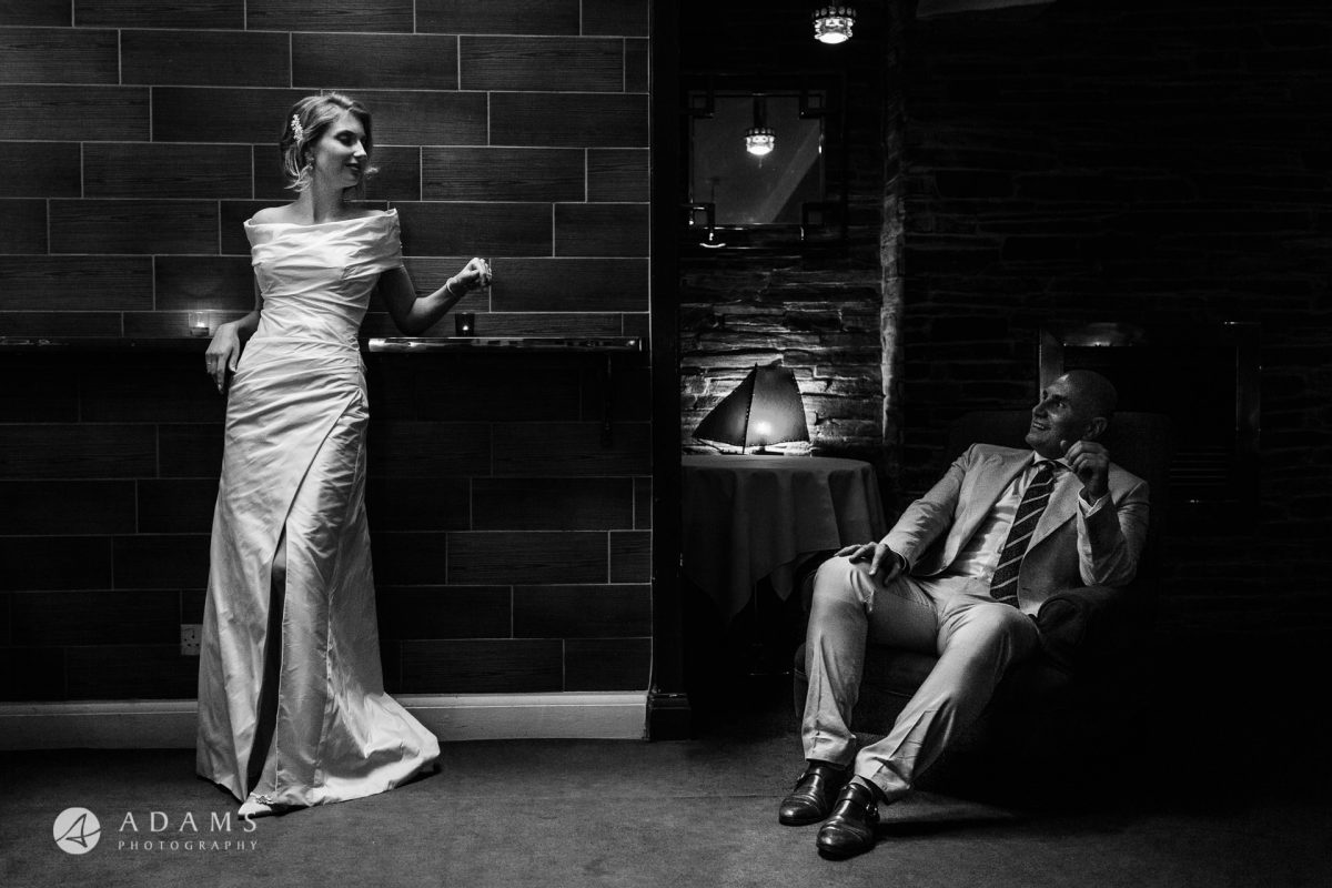 black and white wedding photos couple portrait