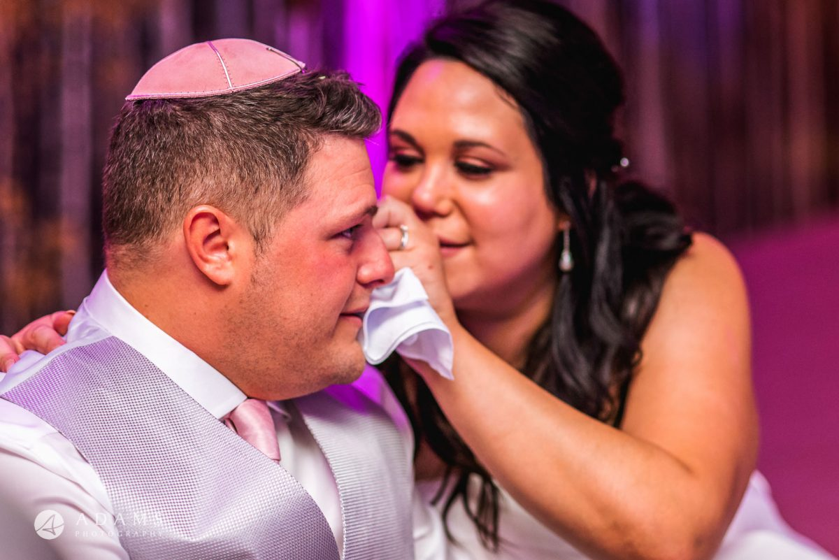 jewish wedding photography in the grove hotel