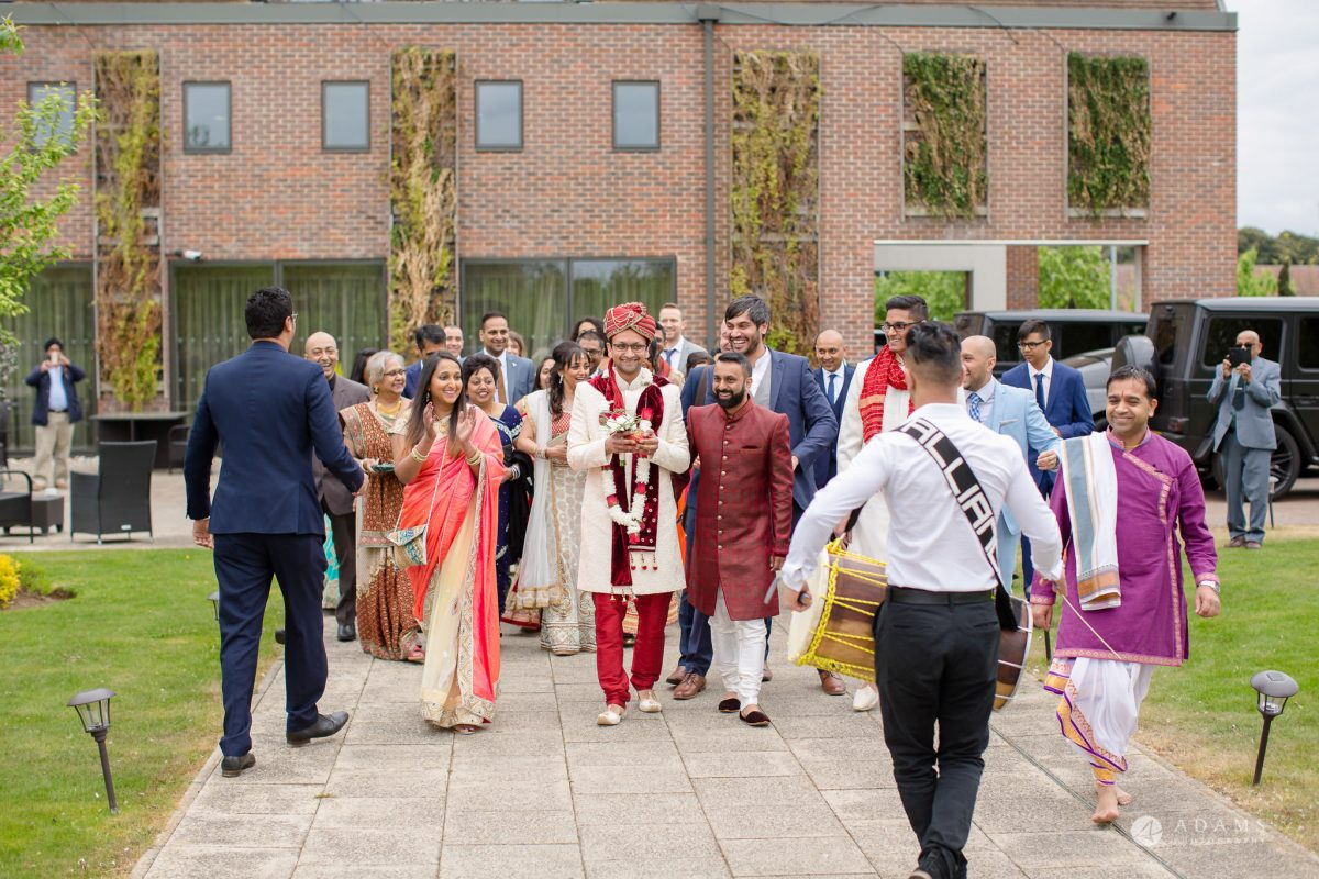 Hilton London Syon Park Asian Wedding hindu greeting ceremony starts