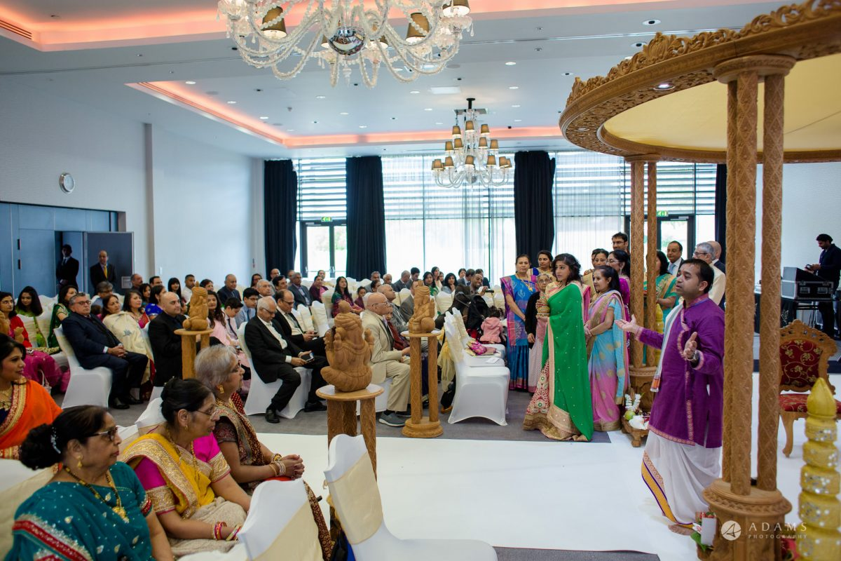 Hilton London Syon Park Asian Wedding hindu ceremony room