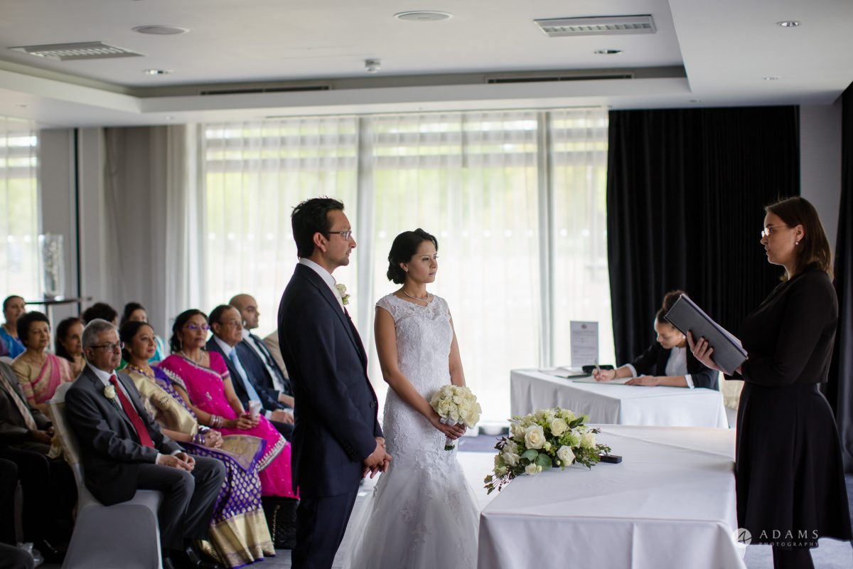 Hilton London Syon Park Asian Wedding civil ceremony