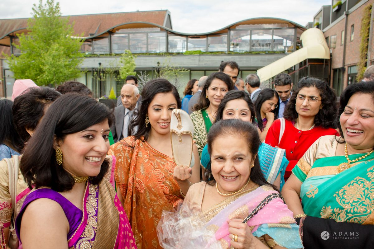 Hilton London Syon Park Asian Wedding shoe hagling