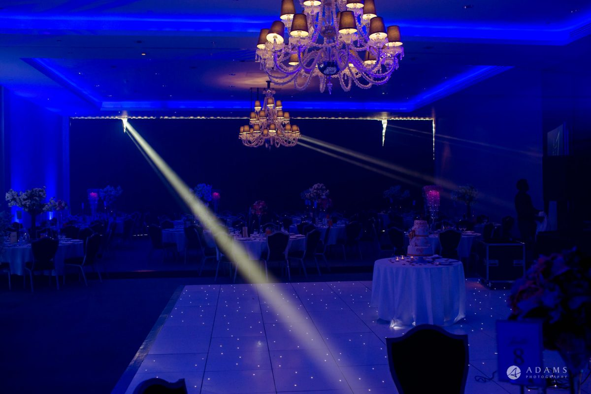 Hilton London Syon Park Asian Wedding reception room light