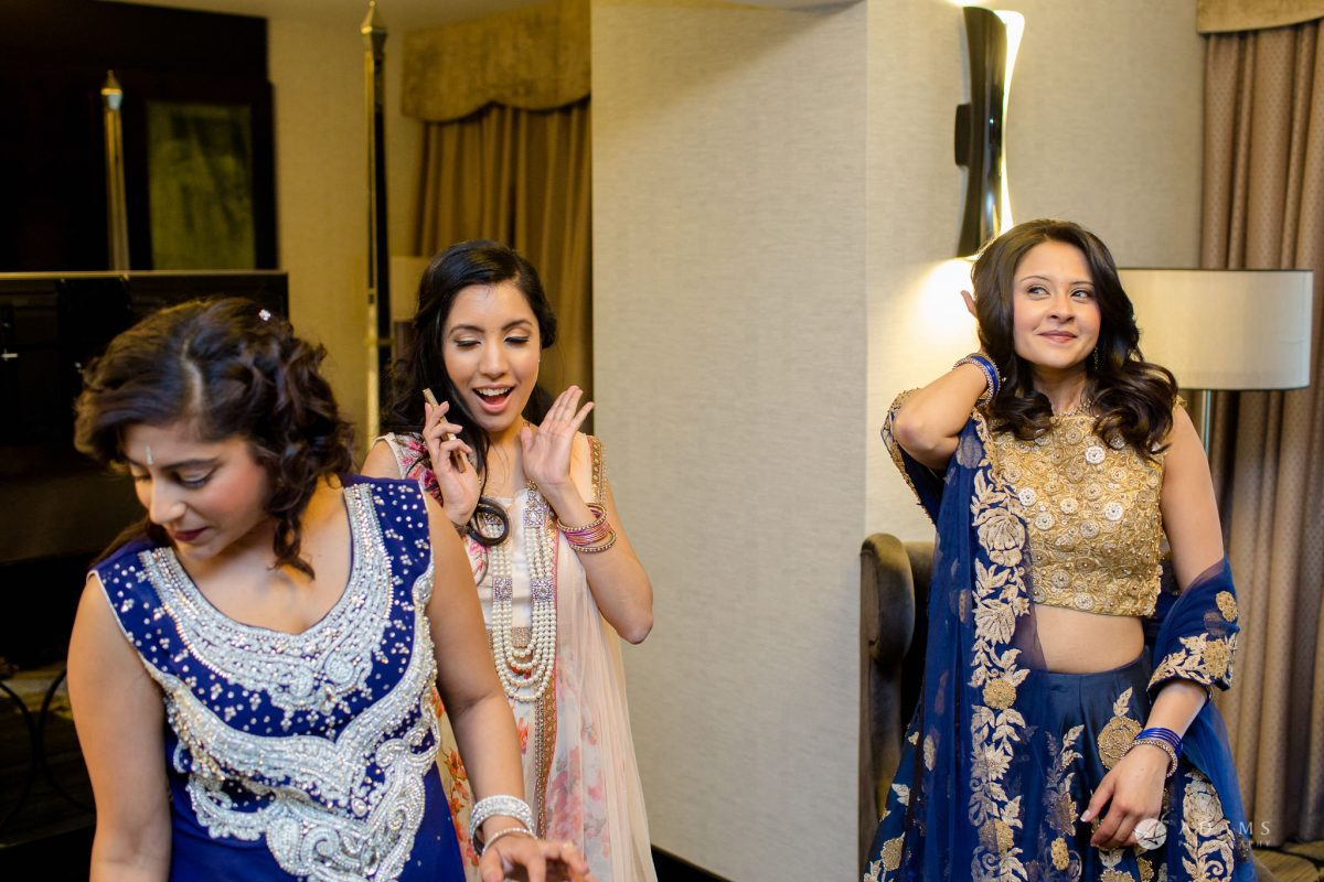Hilton London Syon Park Asian Wedding bride changing her dress