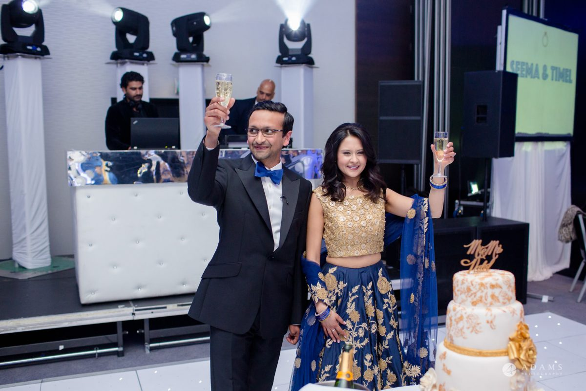 Hilton London Syon Park Asian Wedding Champagne