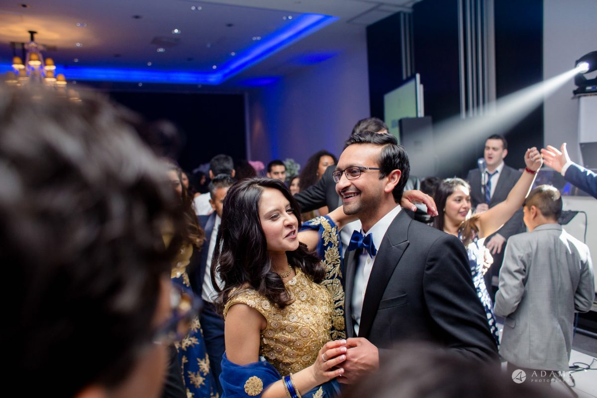 Hilton London Syon Park Asian Wedding bride and groom dance