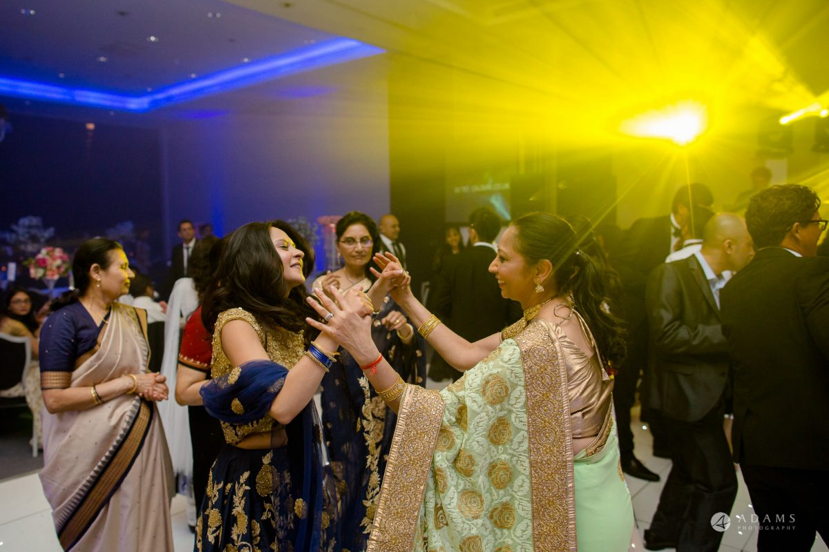 Hilton London Syon Park Asian Wedding bride dances