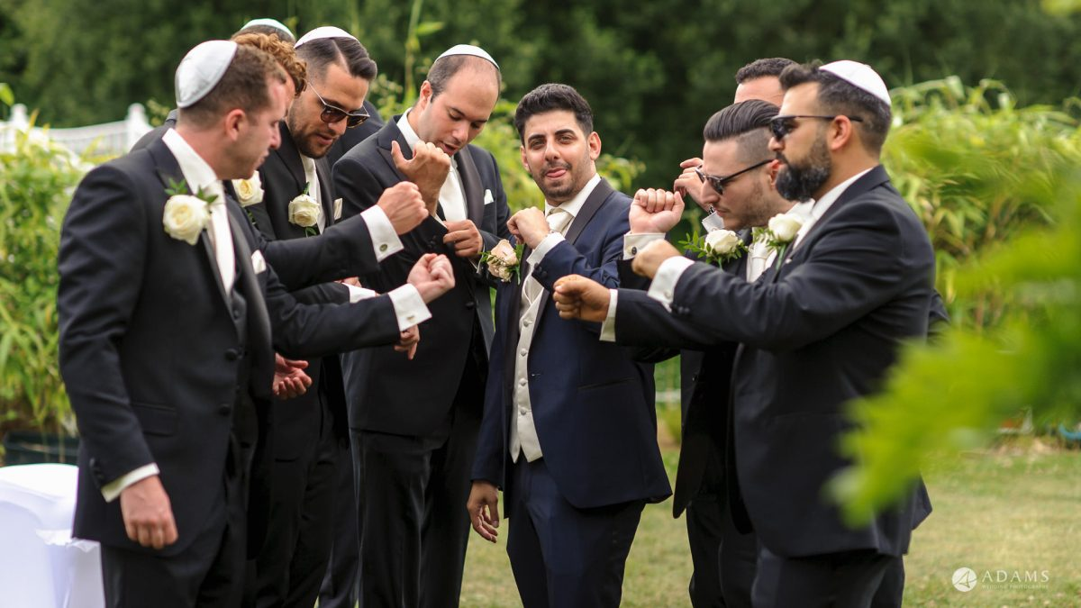 Manor of Groves Wedding guys showing their watches