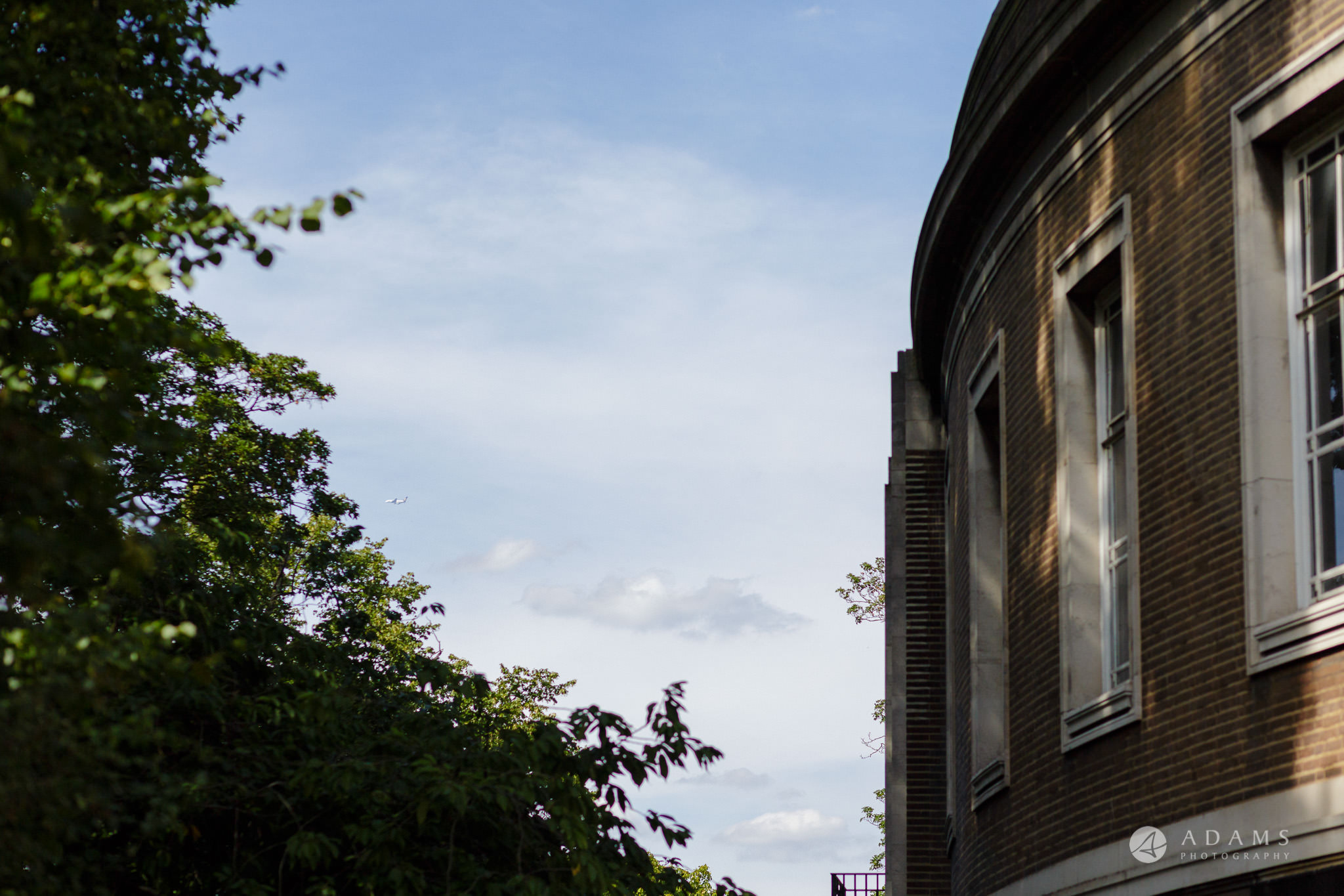 Clissold house wedding sky