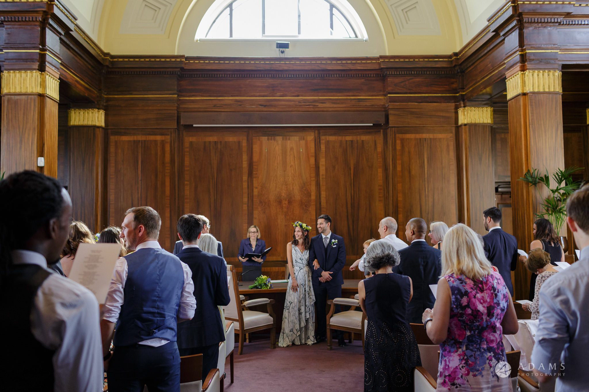 Clissold house wedding the couple is standing