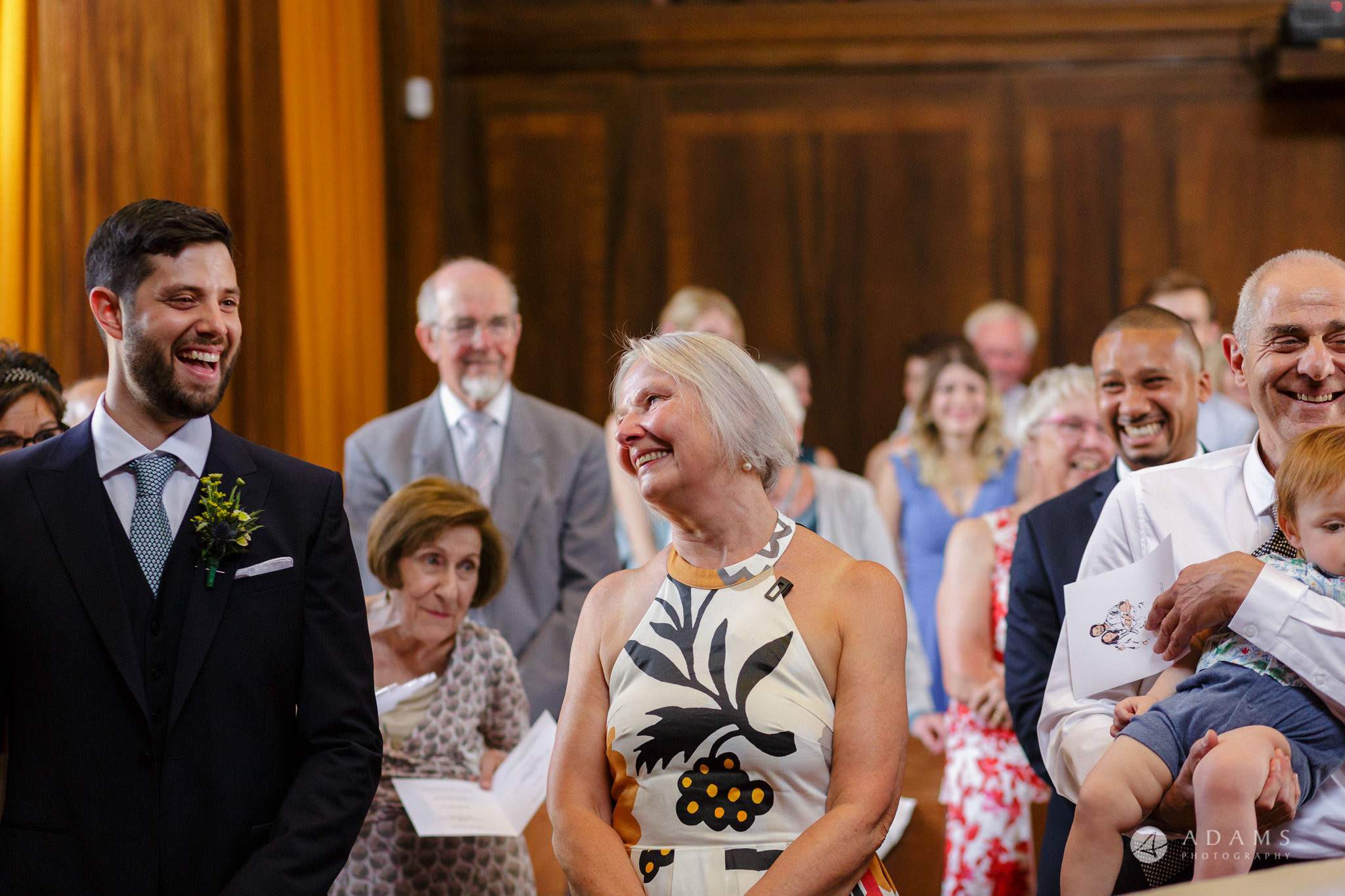 Clissold house wedding family is happy