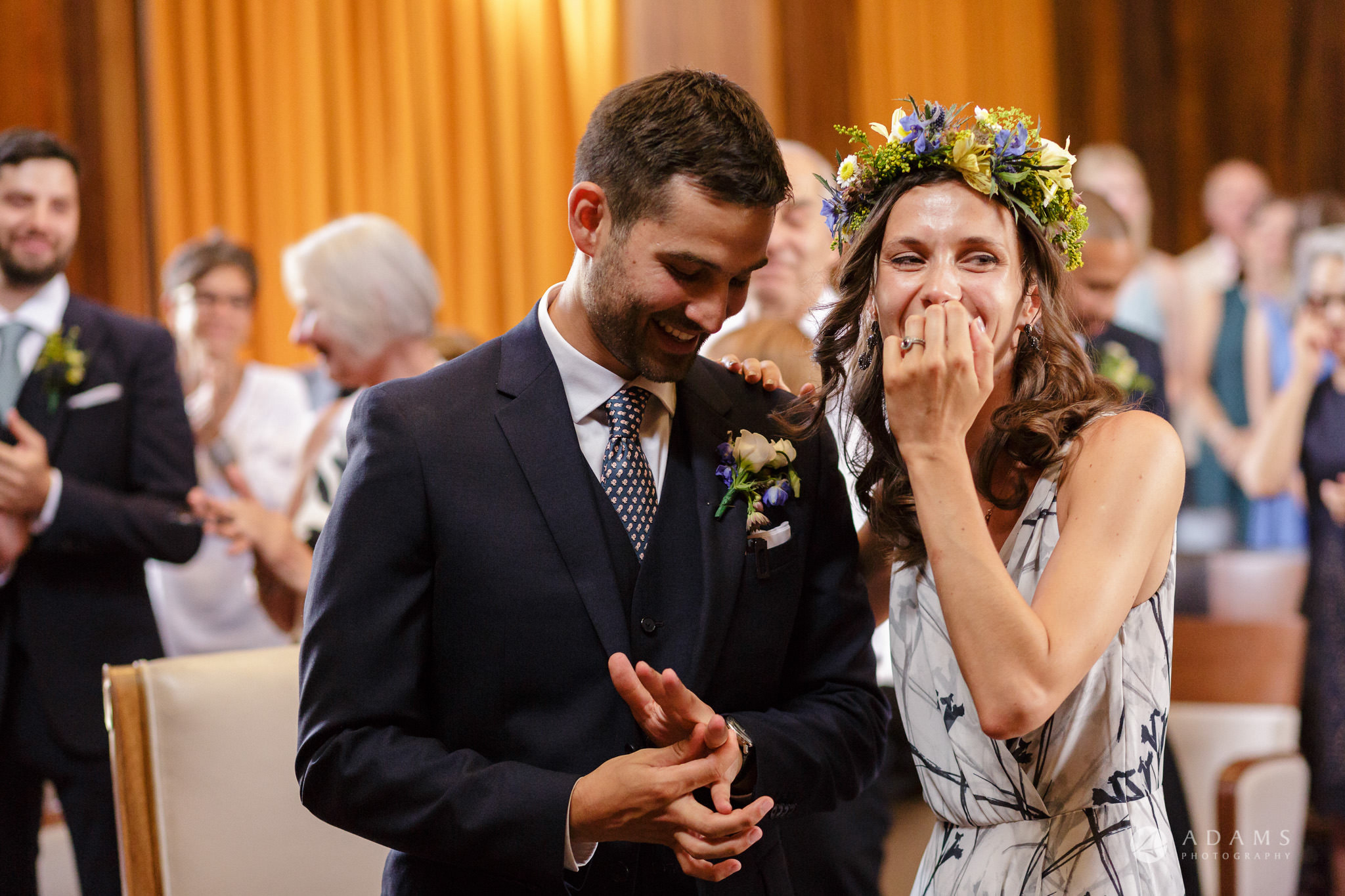 Clissold house wedding the couple full of happines