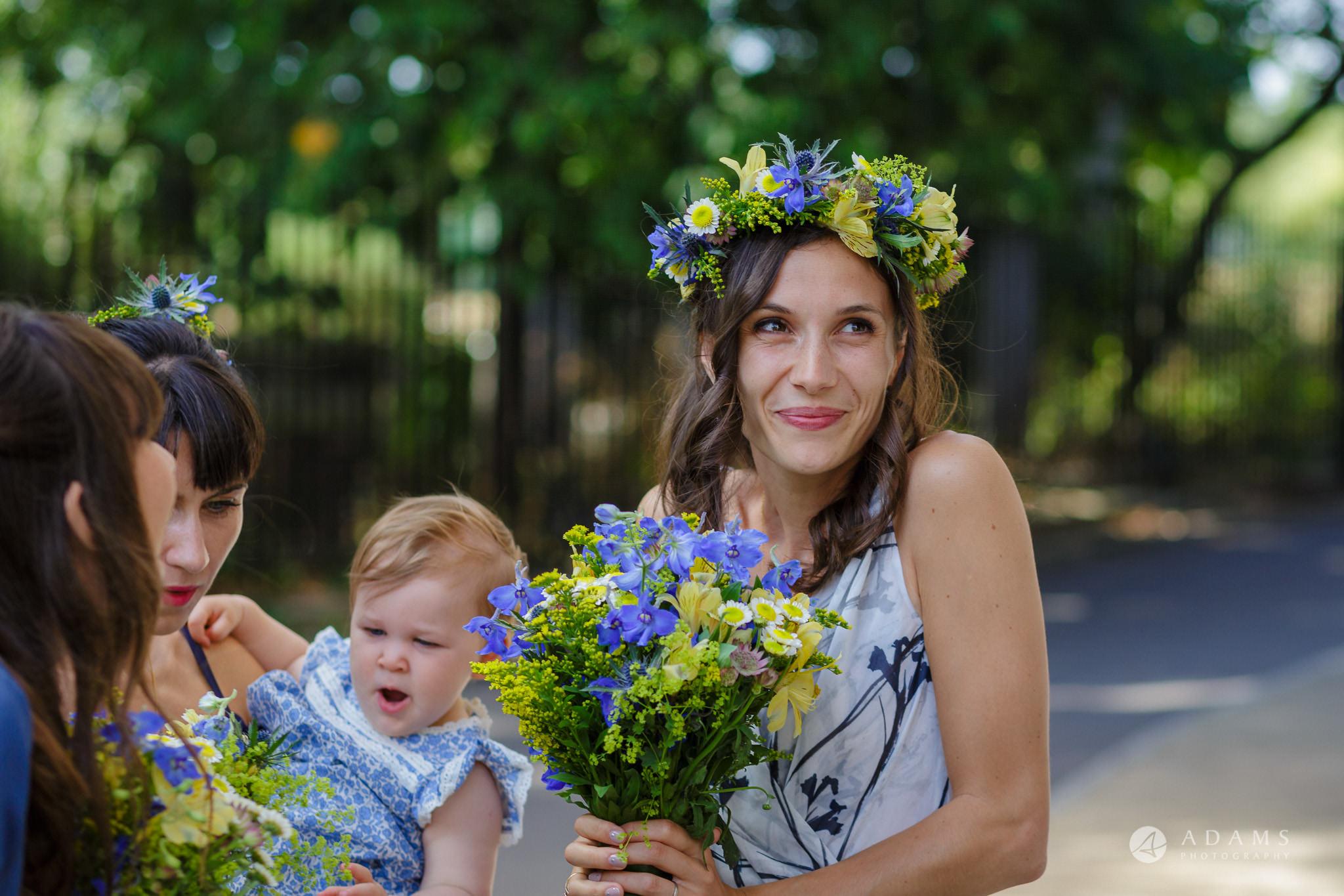 Clissold house wedding bride holding wedding bouquet