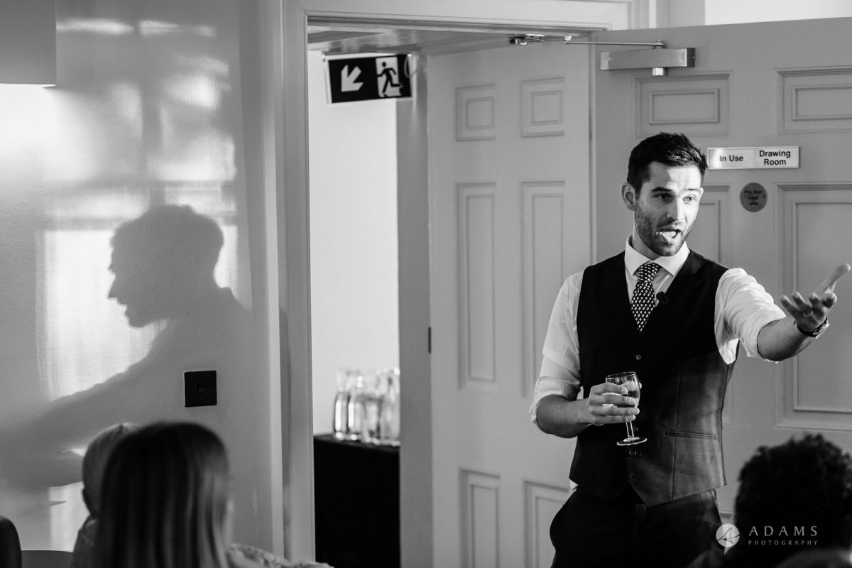 Clissold house wedding groom speech