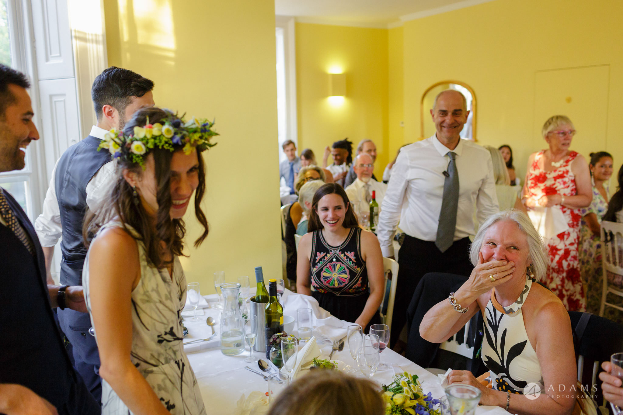 Clissold house wedding mother is laughing