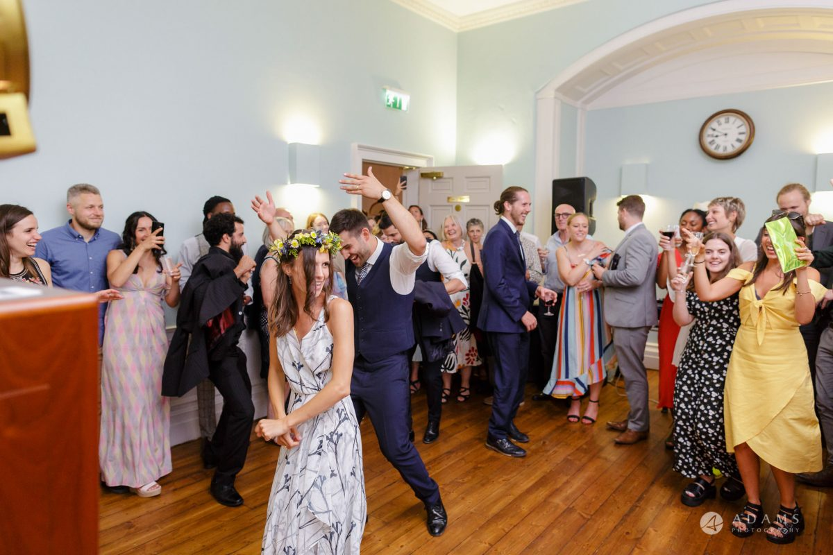 Clissold house wedding bride and groom dancing