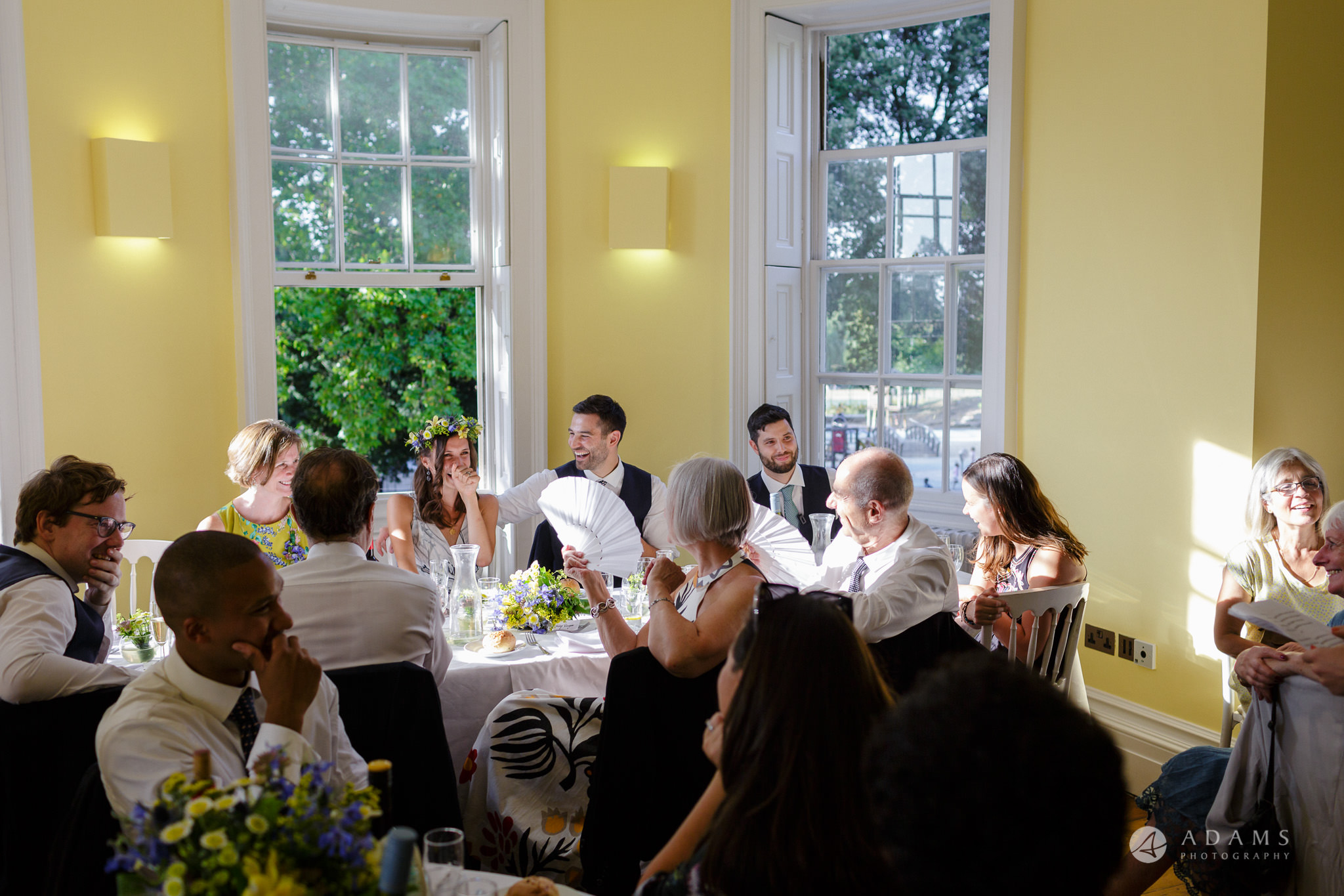 Clissold house wedding family laughs