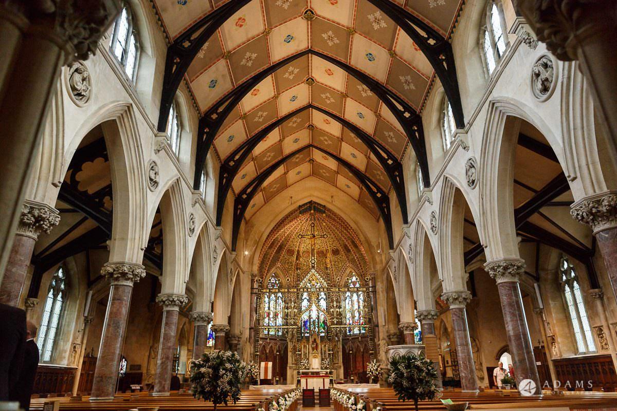 the lost orangery wedding church inside