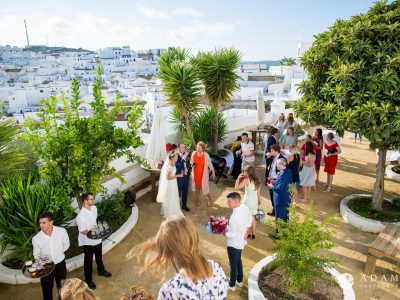 Destination Wedding Photographer Spain view of the venue in Vejer