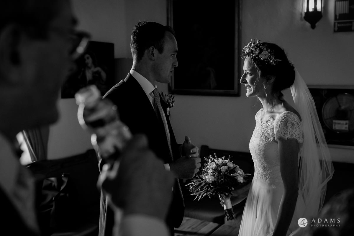 Destination Spain Wedding photos bride and groom have their private moment