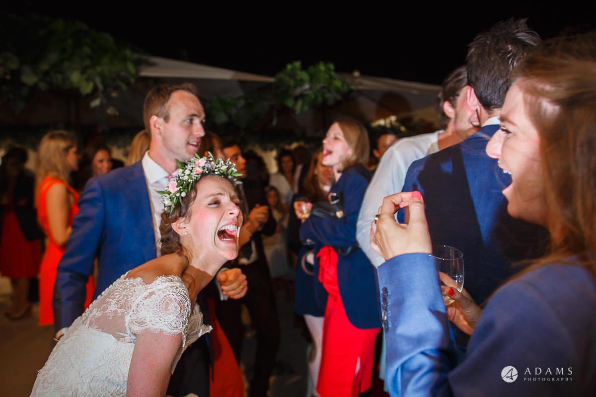 Spain Wedding Photographer bride laughing