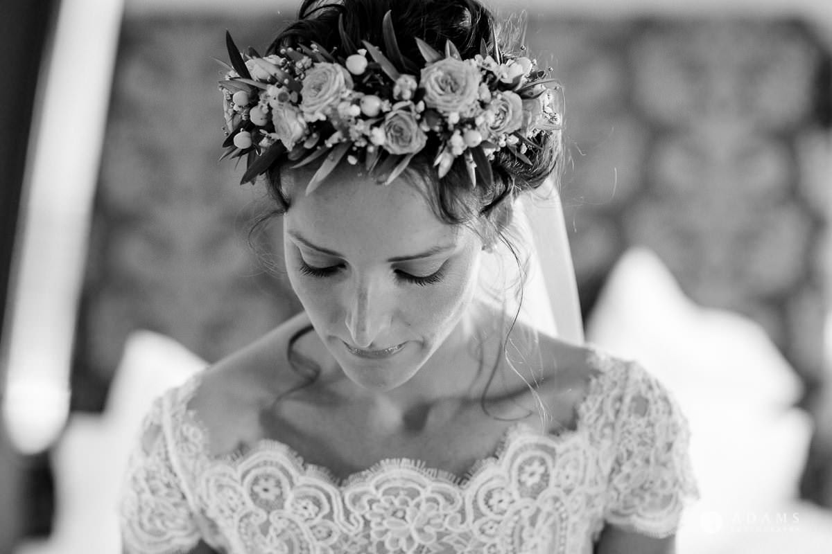Destination Spain Wedding photos bride hair