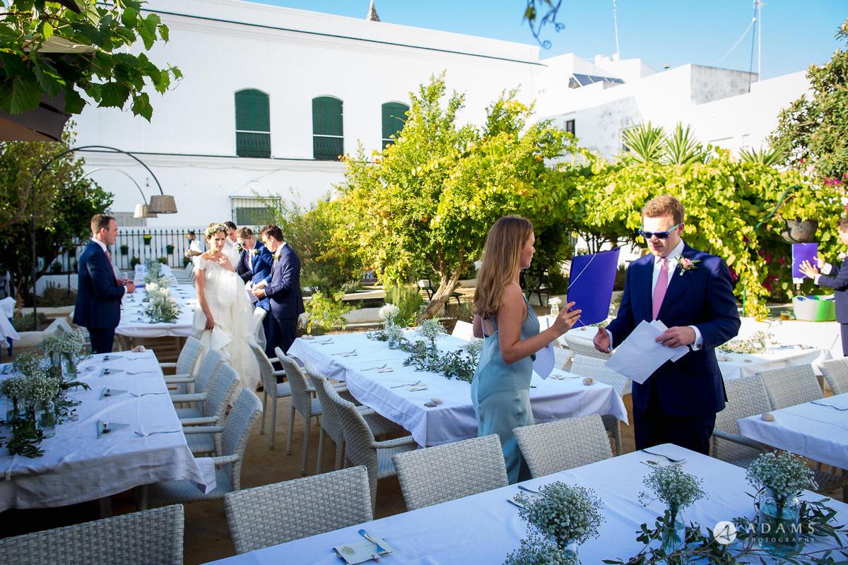 Destination Spain Wedding dinner tables