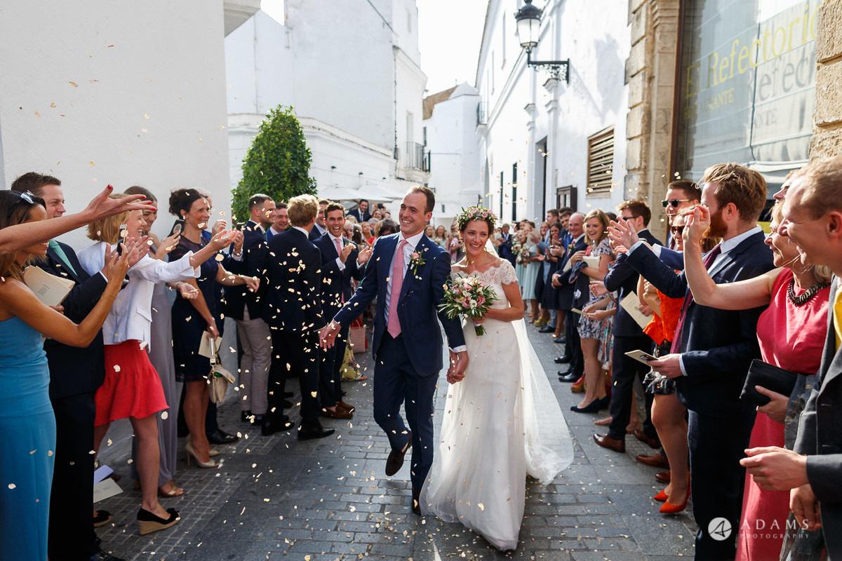 Destination Spain Wedding photos confetti