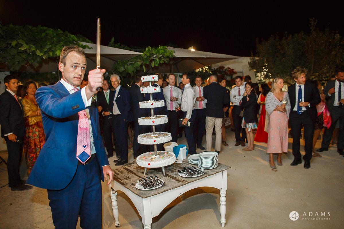 Spain Wedding Photographer cake cutting