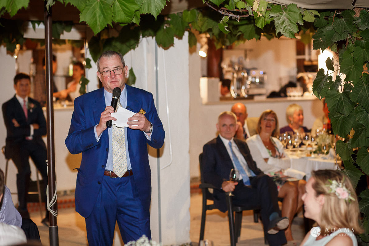 Spain Wedding Photographer father of the bride speech