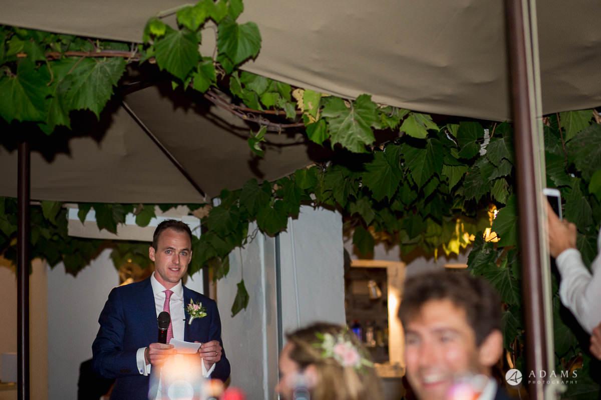 Destination Spain Wedding Photographer groom speech