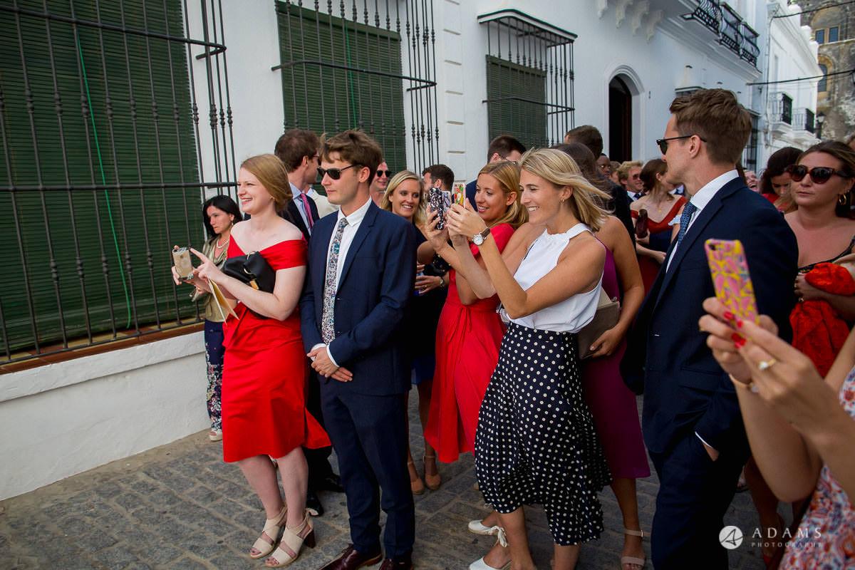 Destination Spain Wedding photos guests taking photos