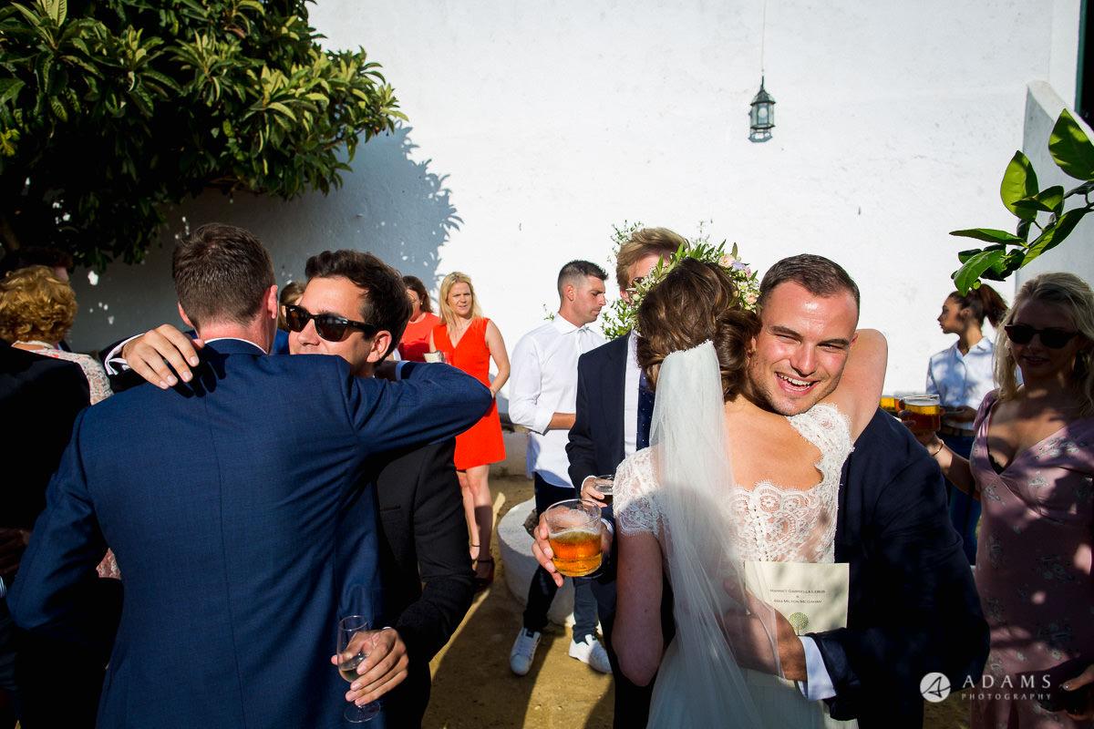 Destination Spain Wedding photos receiving line