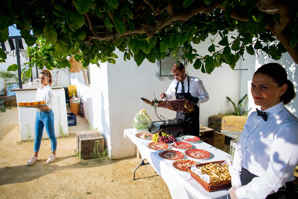 Destination Spain Wedding photos food jamon