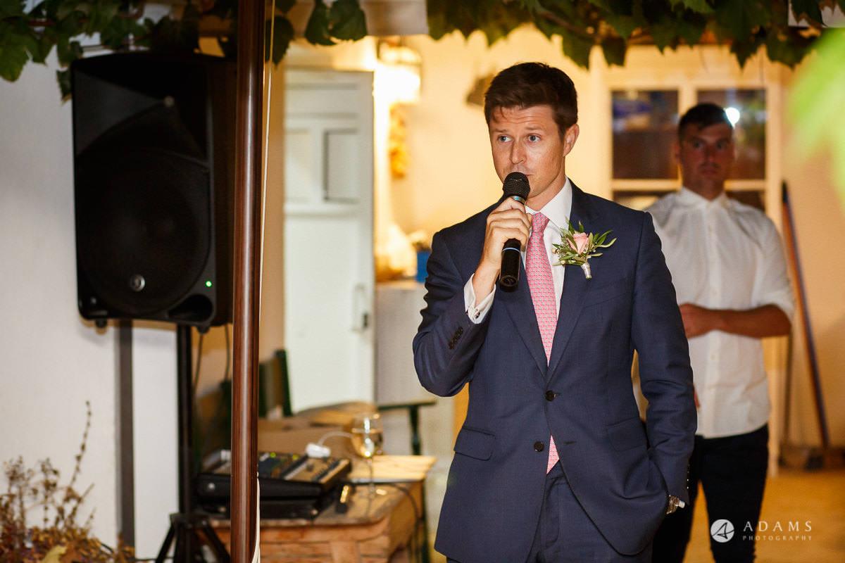 Destination Spain Wedding Photographer bestman speech