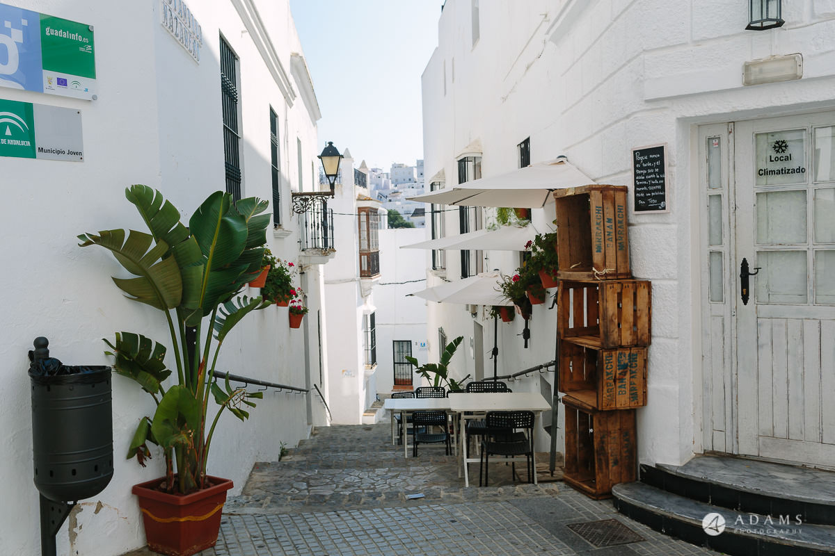 Wedding Photographer Spain streets of Vejer