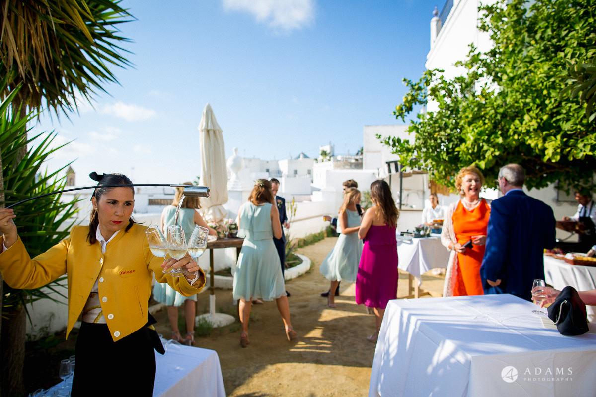 Destination Spain Wedding photos guests arrive