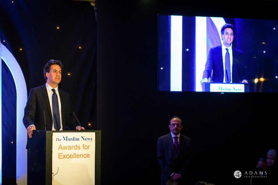 Event photographer London Ed Miliband giving a speech