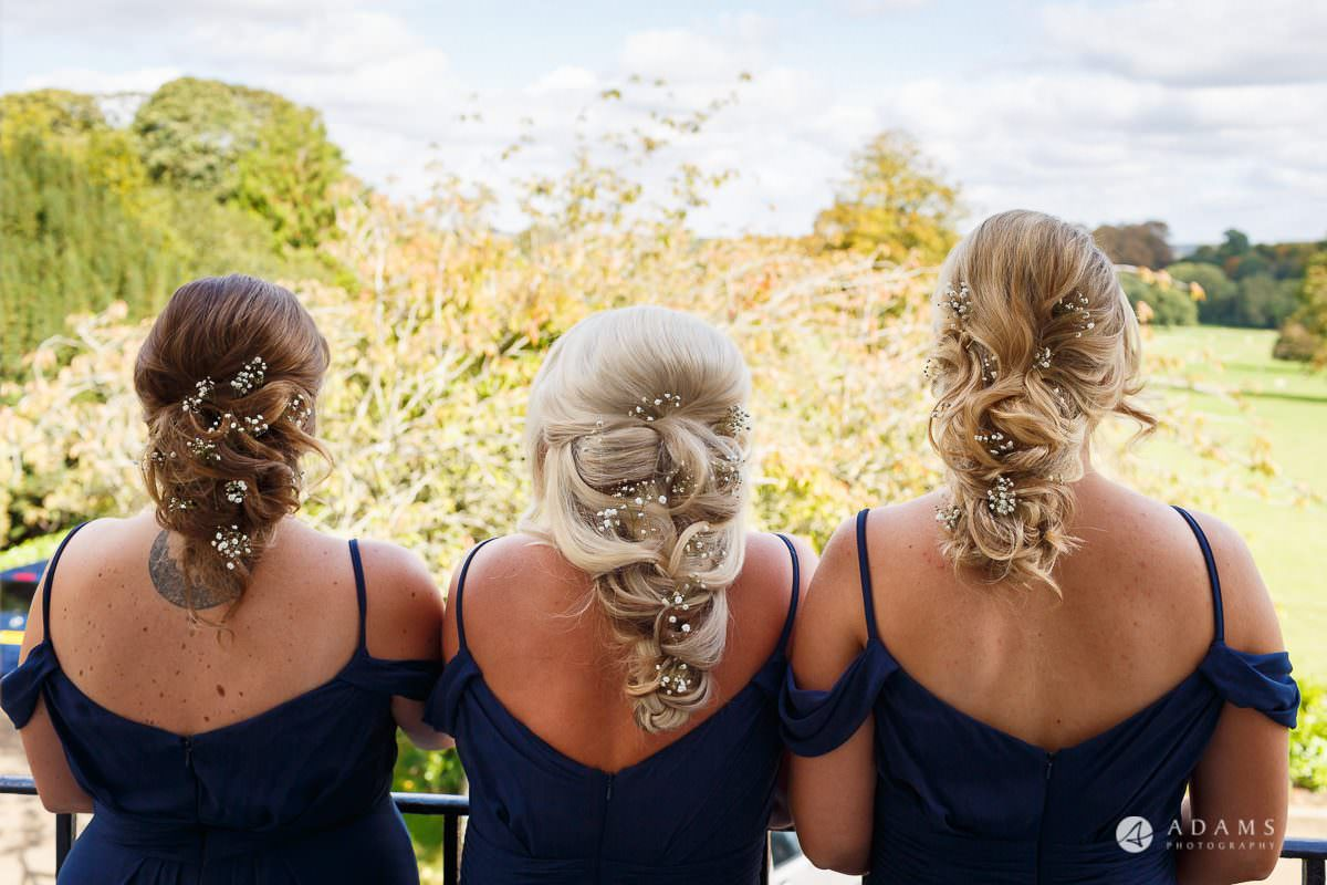 froyle park wedding bridesmaids look from the back