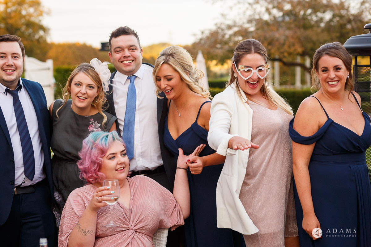 Froyle Park wedding photo of the guests having fun outside