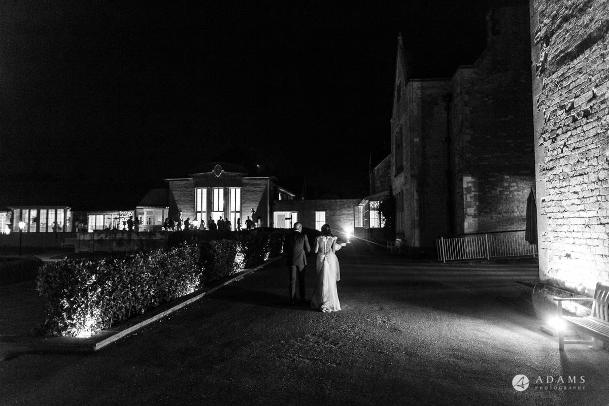 Froyle Park wedding final shot of the couple walking away