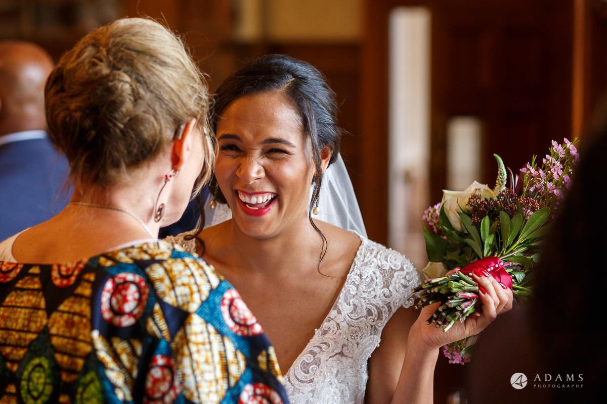 Froyle Park wedding photo of bride holding her bouquet