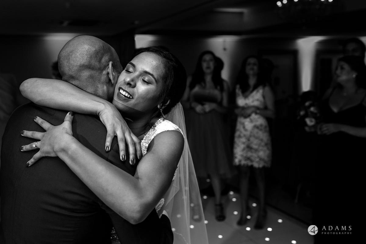 Froyle Park wedding first dance couple hugging