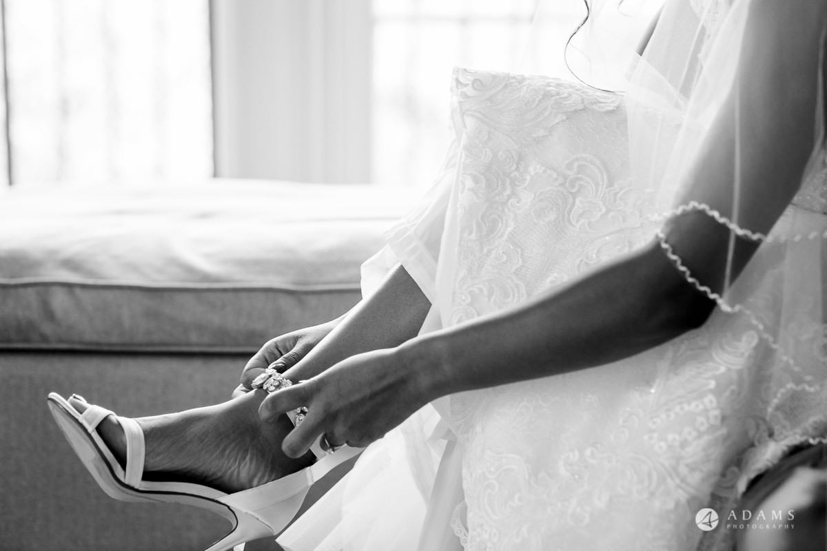 Froyle Park wedding shoes final fixing