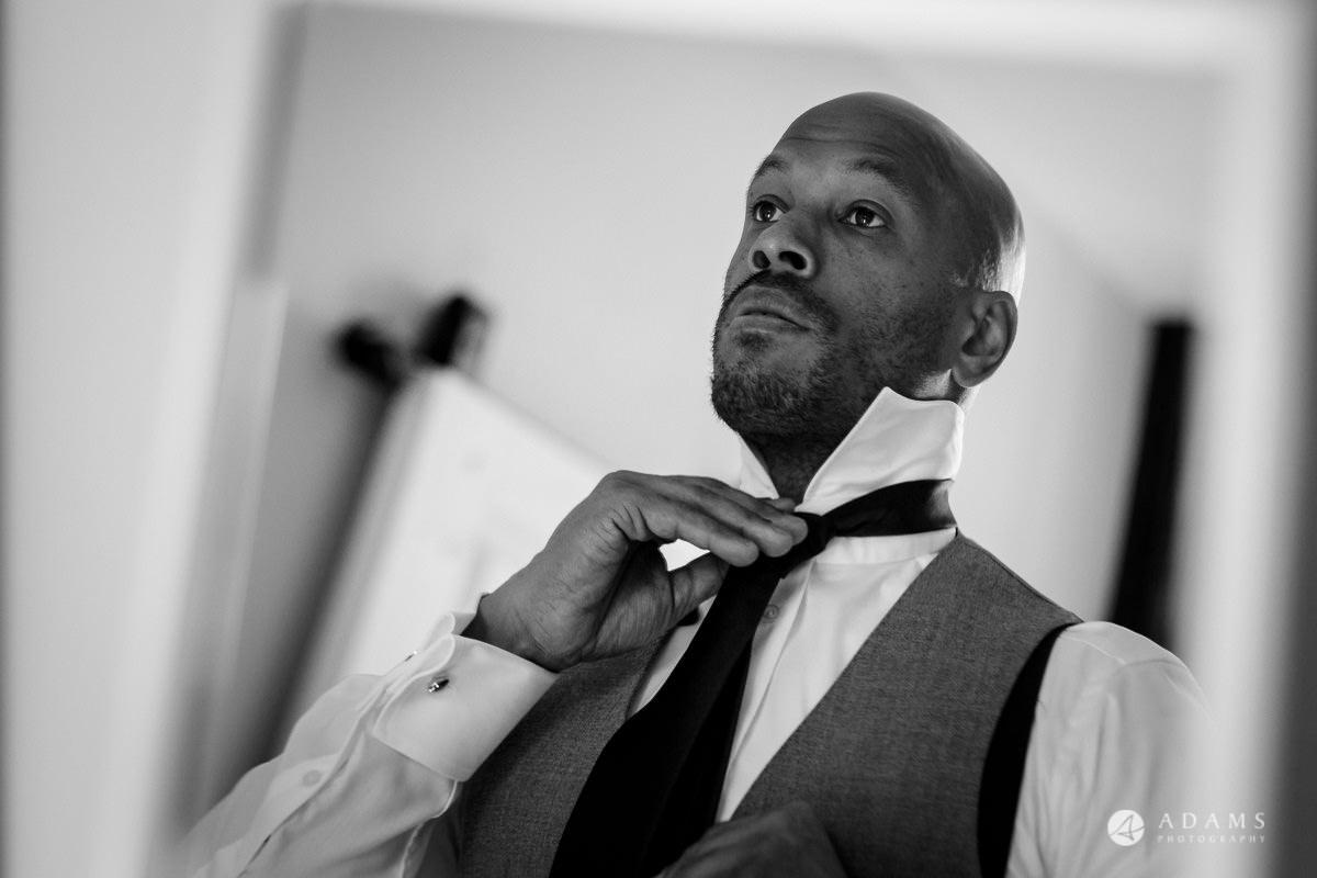 froyle park wedding groom getting ready